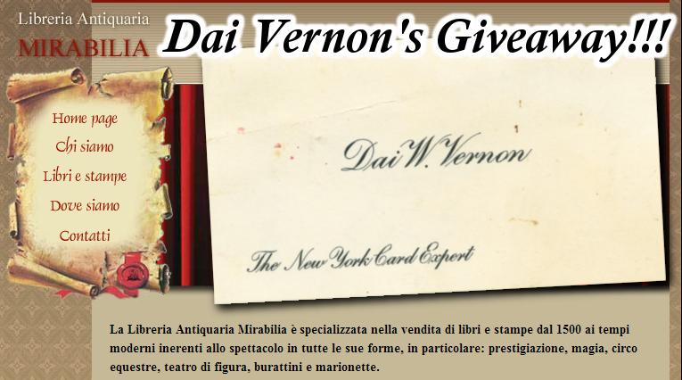 giveaway mirabilia vernon 2014