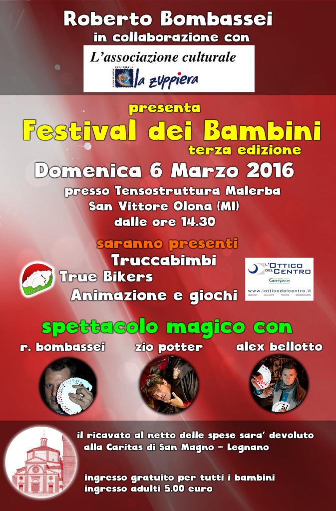 VOLANTINO FESTIVAL BAMBINI 2016