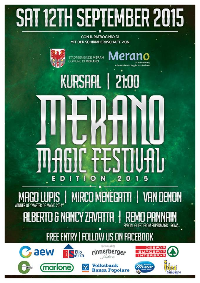 12/09/2015, Merano, Merano Magic Festival 2015 – Prestigiazione.it